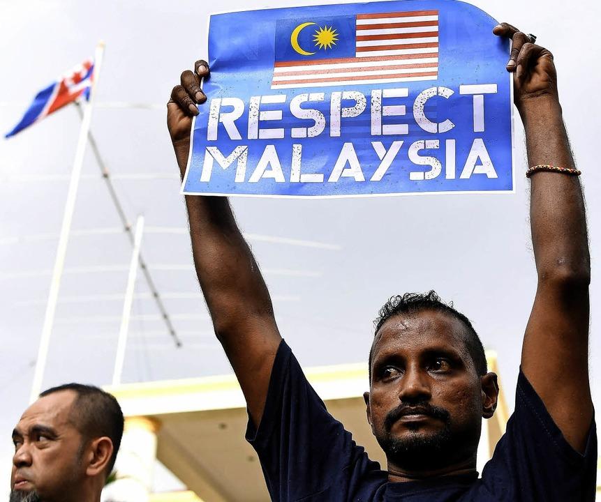 Protest in Malaysia gegen Nordkorea     Foto: AFP