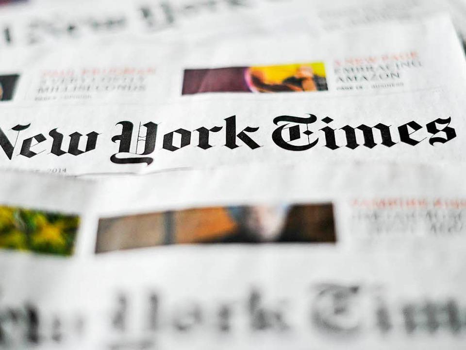 Journalisten der New York Times und an...nferenz im Weißen Haus ausgeschlossen.  | Foto: Ole Spata