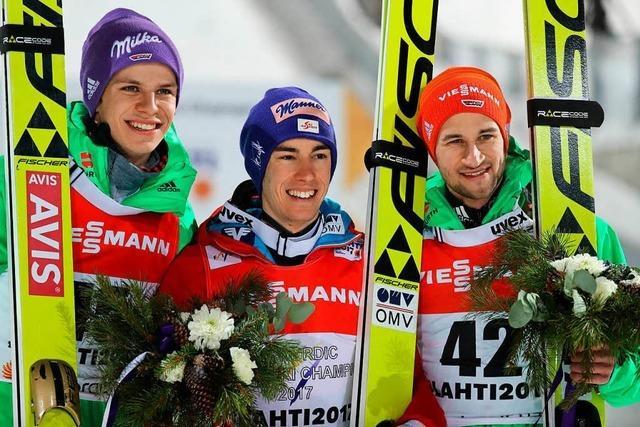 WM-Silber für Wellinger, Bronze für Eisenbichler