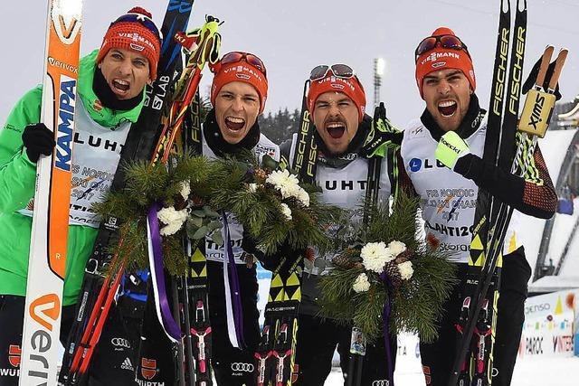 Fabian Rießle und Co. werden Mannschafts-Weltmeister