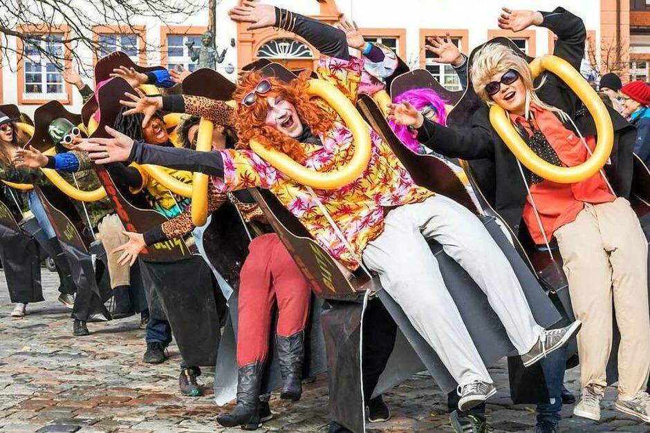 Beste närrische Stimmung war beim großen Umzug am Fasnet-Sonntag in Grafenhausen angesagt. (Foto: Wilfried Dieckmann)
