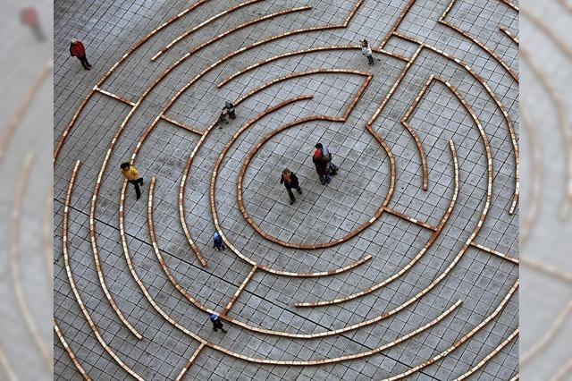 Ein Labyrinth aus 1500 Ziegelsteinen