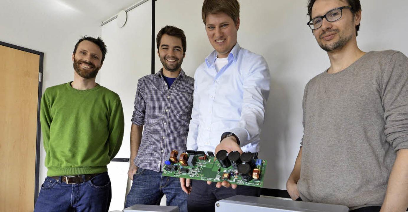 Die Blue-Inductive- Gründer mit dem Pr...er, Johannes Mayer und Florian Reiners  | Foto: Michael Bamberger