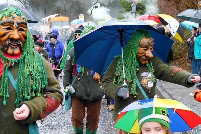 Fotos: Narren trotzen dem Regen beim Umzug in Heimbach