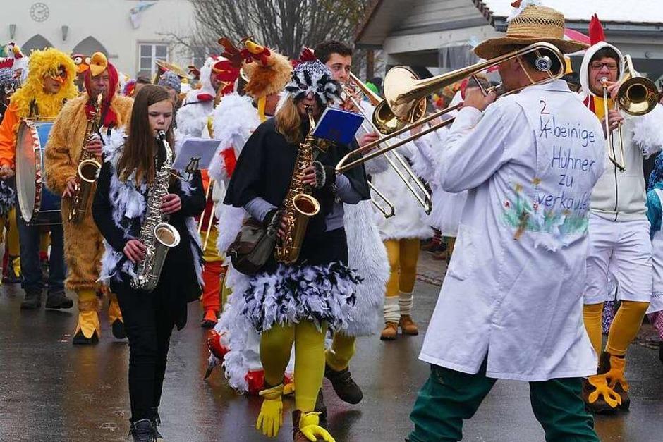 Rund 40 Gruppen und Zünfte sorgten in Ewattingen beim Umzug für ein närrisch-fröhliches Spektakel. (Foto: Juliane Kühnemund)