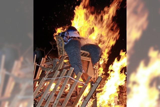 Der Bantle ging in Flammen auf
