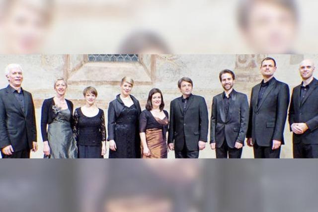 Das Ensemble Corund mit Werken von Claudio Monteverdi in der Müllheimer Martinskirche