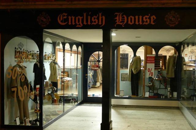 Das Fachgeschäft English House in Staufen schließt