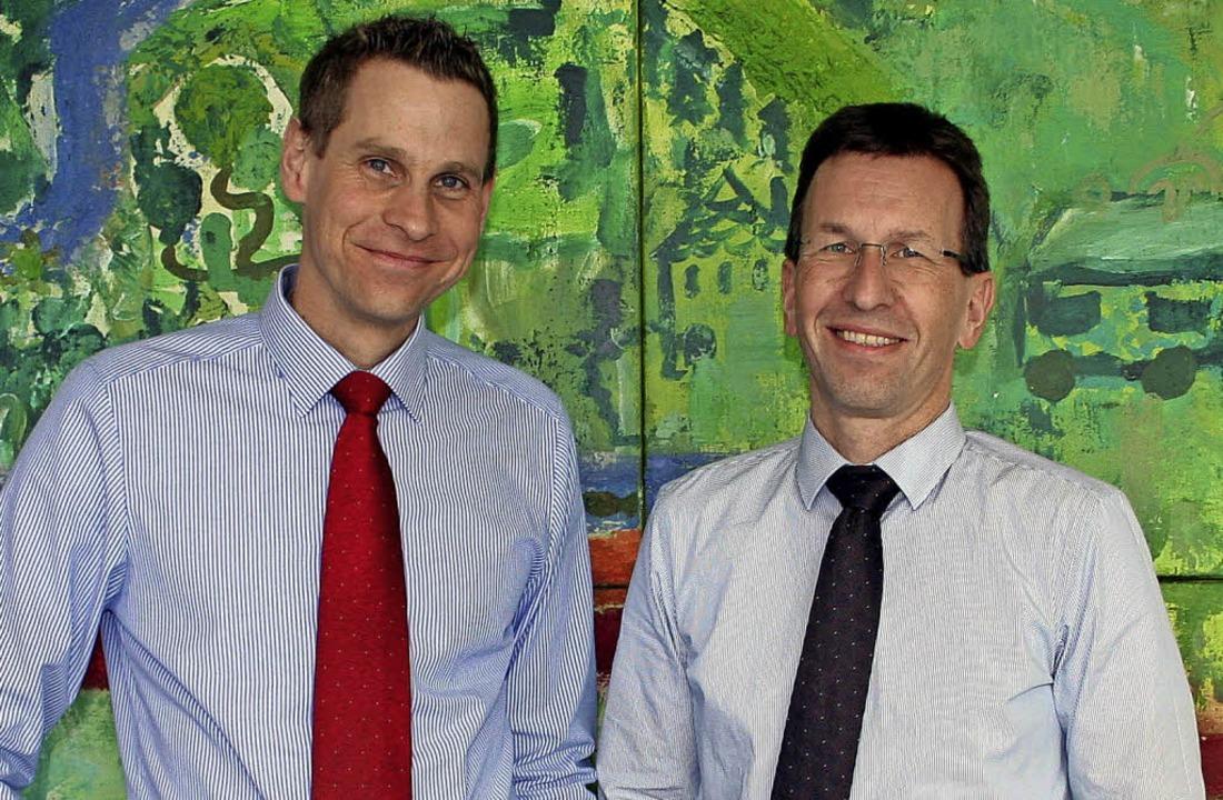 Das neue Vorstandsduo der Verkehrs-AG:...uch Geschäftsführer der Stadtwerke ist  | Foto: Privat