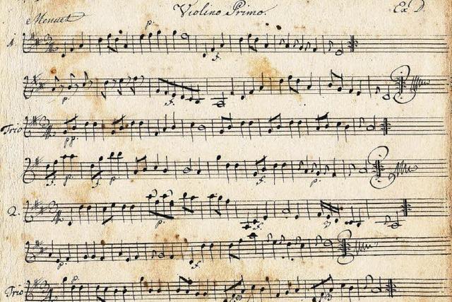 250 Jahre alte Menuette werden wieder aufgeführt