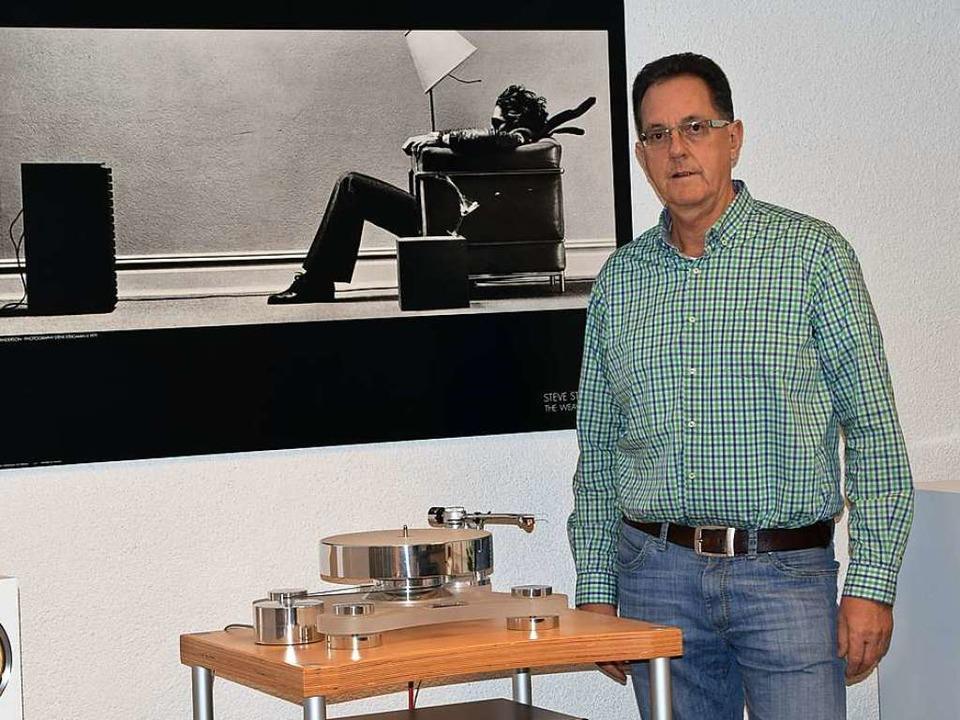 Markus Herrmann vom Akustik Studio in Lörrach  | Foto: Heidemarie Wussler