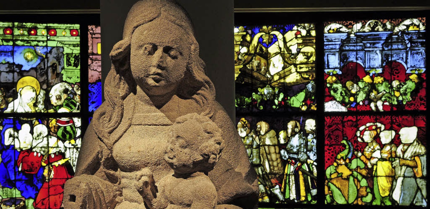 In der Gotik-Ausstellung im Freiburger...tzel-Kapelle des Münsters ausgestellt.  | Foto: Thomas Kunz