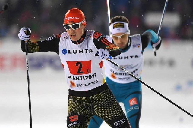 WM-Gold im Teamsprint für Johannes Rydzek und Erik Frenzel