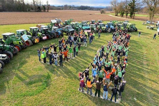 Feldbesetzung als Protest gegen den Stadtteil Dietenbach