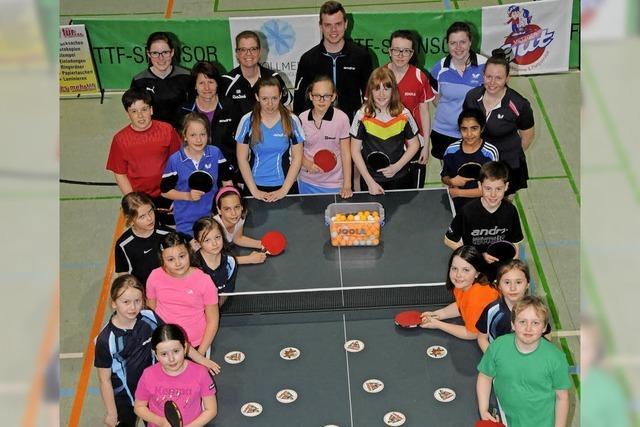 Tischtennis mit Spiel und Spaß
