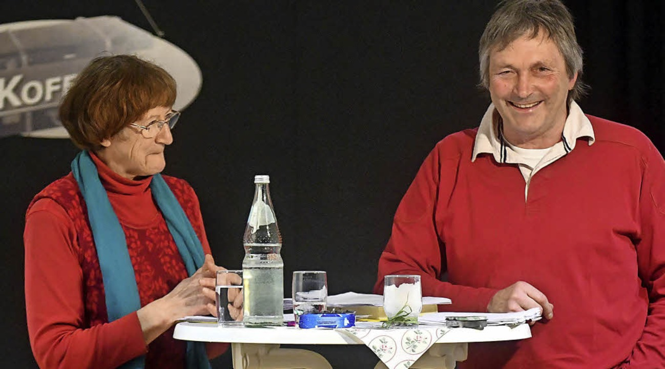 Sie hatten auch ihren Spaß: Gertrudis Weiß und Wendelinus Wurth.   | Foto: W.  Künstle