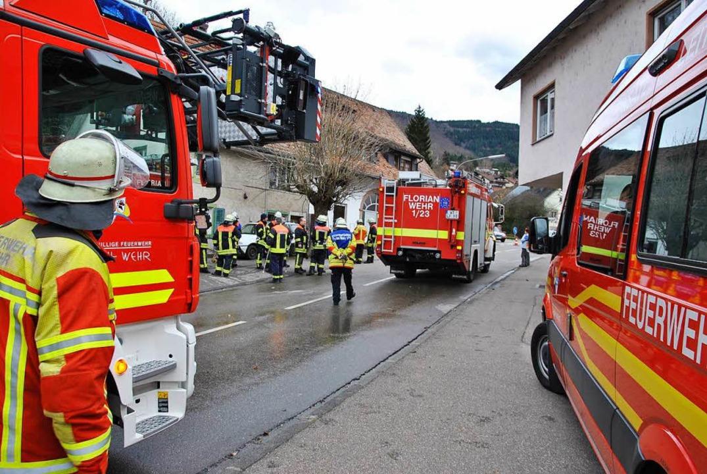Die Feuerwehr war in Wehr im Einsatz.  | Foto: Ralph Fautz