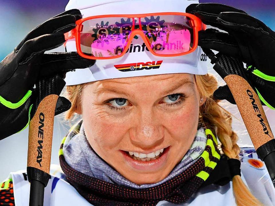 Die Sprint-Spezialistin Sandra Ringwal...s Hoffnungsträgerin im deutschen Team.  | Foto: dpa