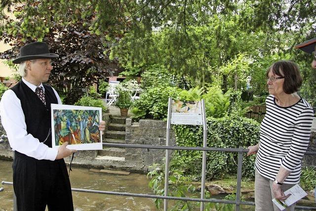 Mit Schauspieler Wigand Neumann auf dem August Macke-Weg in Kandern