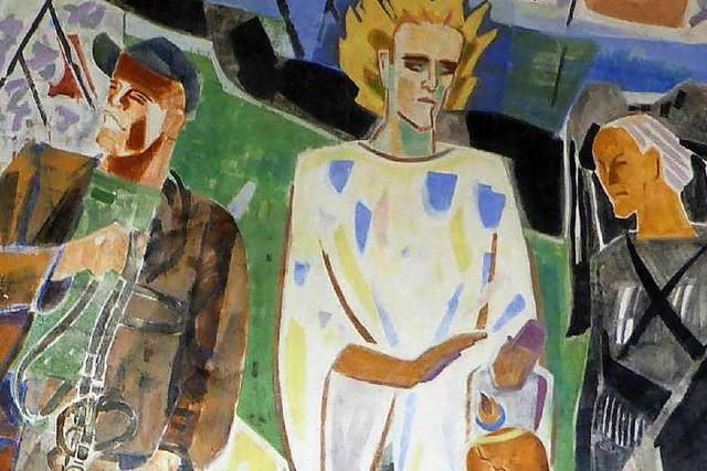 Riedlin-Wandbild in Lörrach-Stetten zu besichtigen