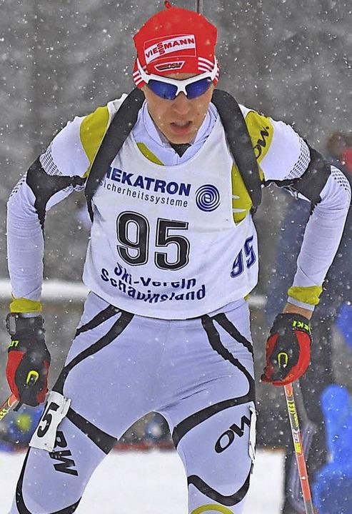Auf dem Weg zur Medaille gestoppt: Robin Wunderle   | Foto: uwe Rogowski