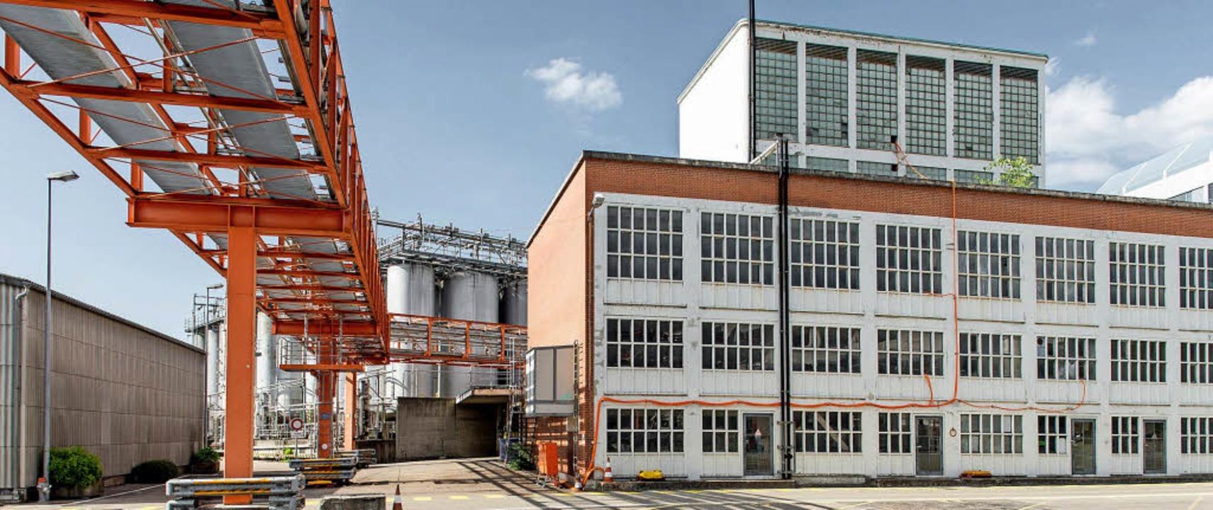 Ein Gebäude in dem jahrzehntelang für ...tion genutzten Teil des Klybeckareals   | Foto: BASF/NOVARTIS