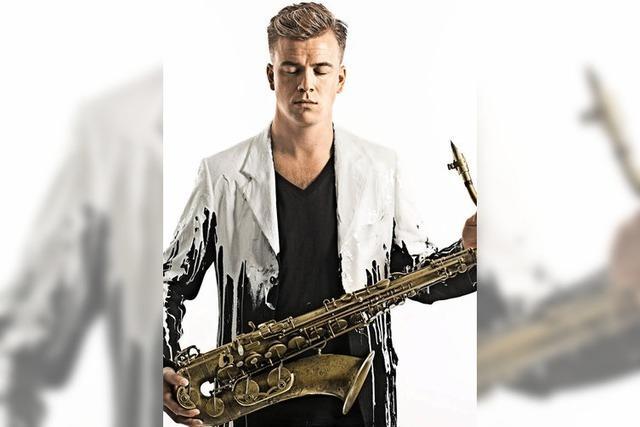 Der norwegische Saxophonist Marius Neset spielt beim Landesjazzfestival