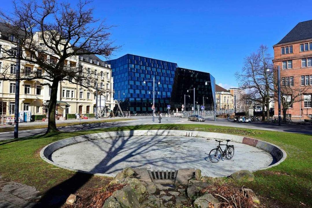 Am historischen Alleegarten an der Eck...Stellplätze für Fahrräder  entstehen.   | Foto: Thomas Kunz