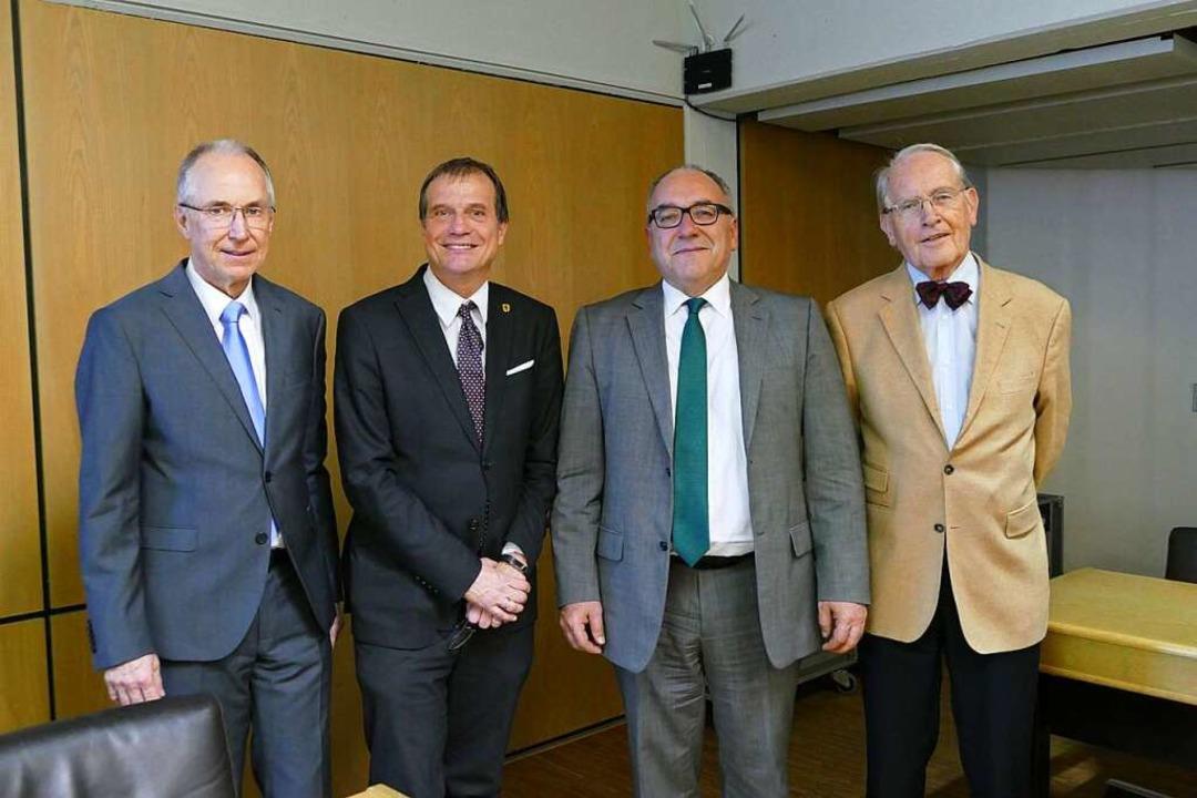 Mitglieder des Fördervereins: (von lin...erster Vorsitzender Hans Rudolf Henche  | Foto: Elena Bischoff