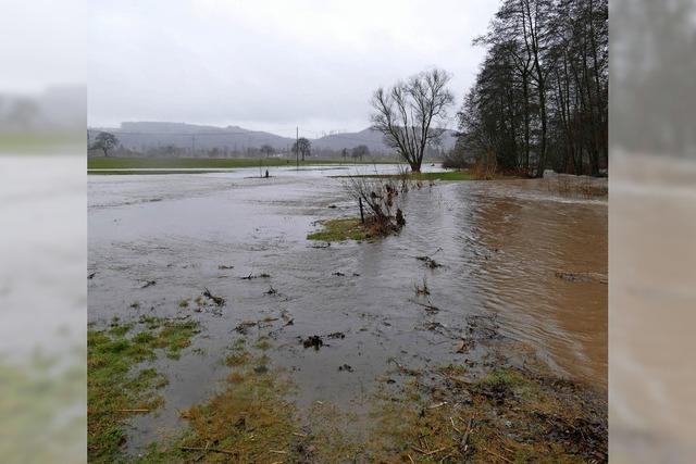Hochwasser in Langenau