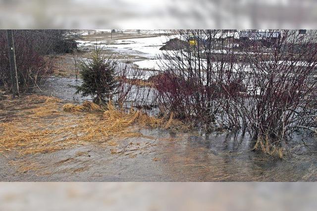 Überschwemmung in Ibach