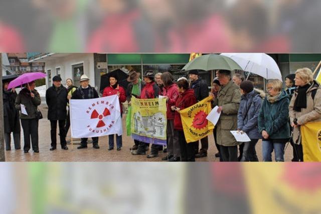 Gegen Atomkraft und Atomkraftwerke. In Titisee-Neustadt