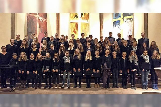 Offenburger Juendkantorei spielt in der Stadtkirche