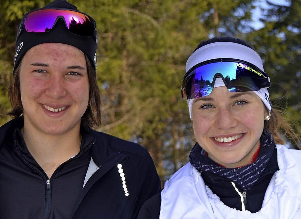 Johanna Knöpfle (links) lief auf Rang ...rina Baum gewann   den Rechbergpokal.   | Foto: junkel