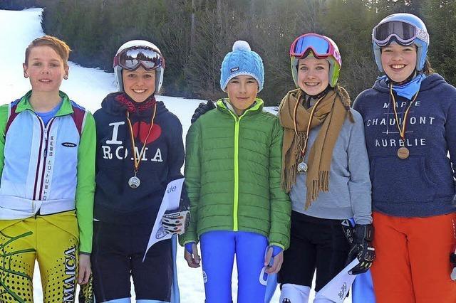 Spannende Slalomrennen auf gut präparierter Piste