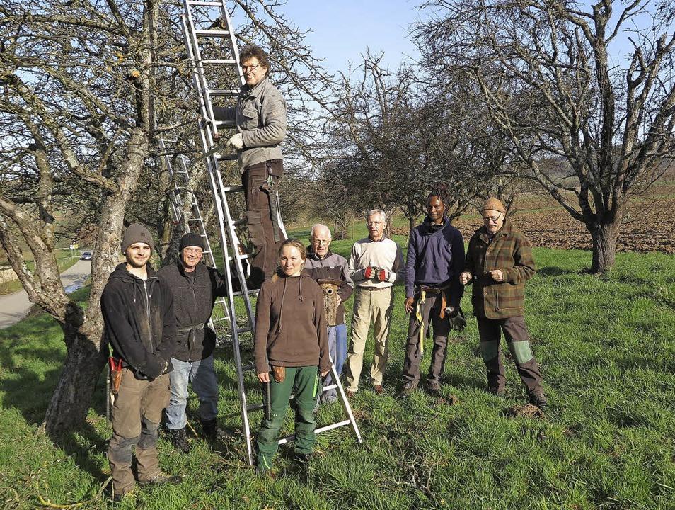 Eine internationale Truppe: Mitglieder...ilfried Vollmer (Vierter von rechts).   | Foto: Dorothee Philipp