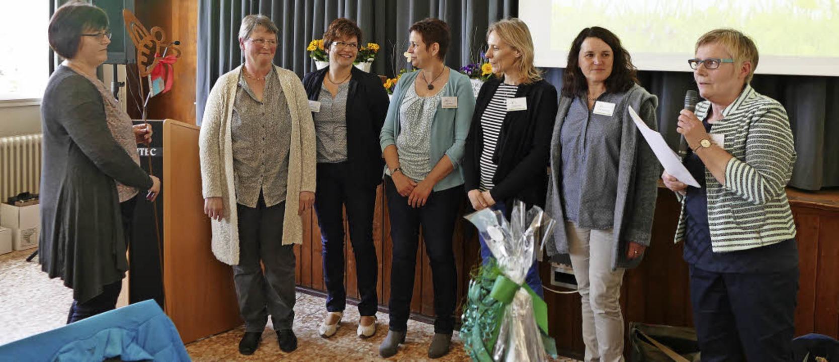 Die Vorstandschaft der Landfrauen: die...fler und  Heike Nussbaumer (von links)    Foto: Sigrid Umiger