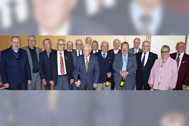 Zusammen 3720 Jahre im Singen aktiv
