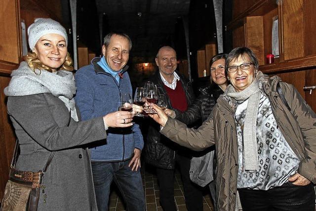 Bei der Rotweinnacht in Oberrotweil standen die Rotweine im Mittelpunkt