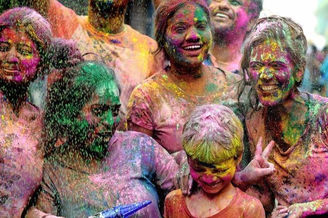 In Indien wurde Holi gefeiert