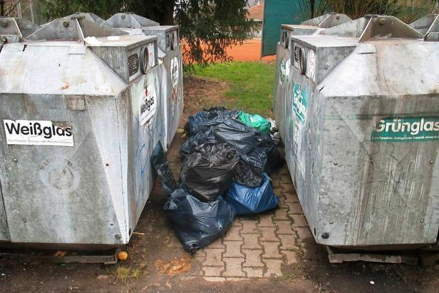 Die Stadt Lahr beklagt den zunehmenden illegalen Müll