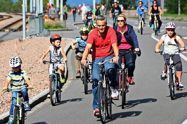 Auf dem Weg zur Stadt für Radfahrer