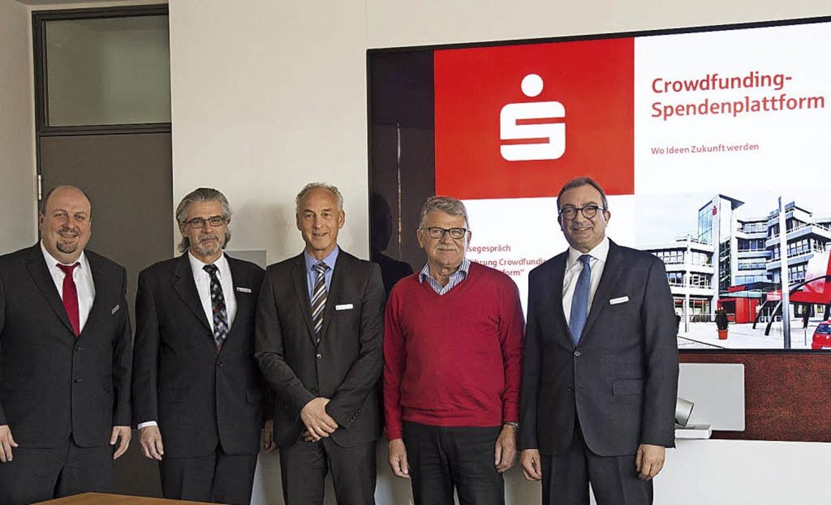 Stellen die neue Spendenplattform vor ...auf, Dieter Fehrle und Thomas Vollmer     Foto: Volker Münch