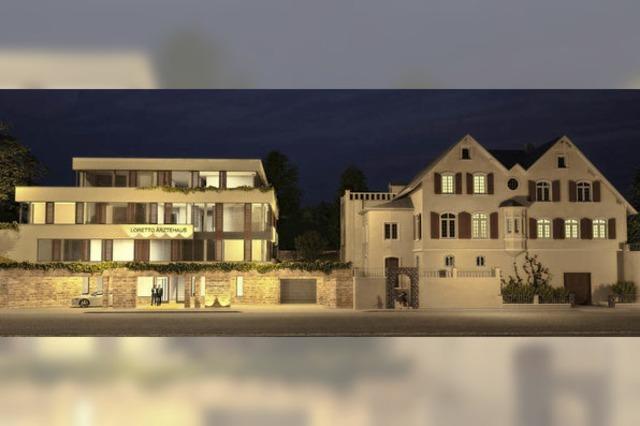 Das Loretto-Ärztehaus an der Mercystraße wird gebaut