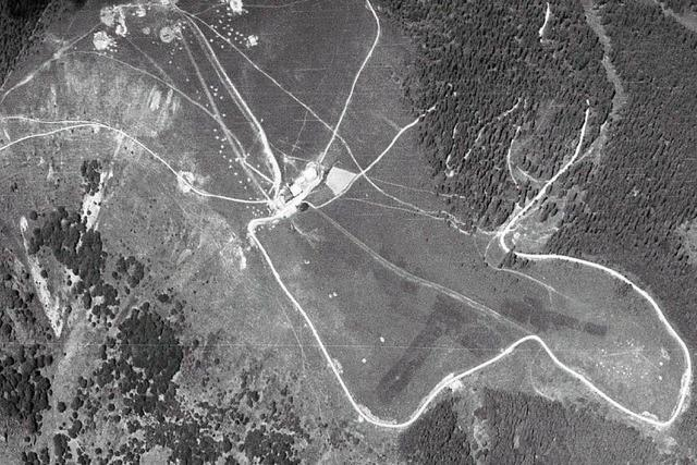 Der Belchen stand im Zweiten Weltkrieg unter Beschuss
