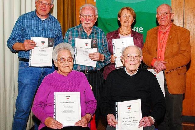 Seit 85 Jahren Mitglied beim Schwarzwaldverein