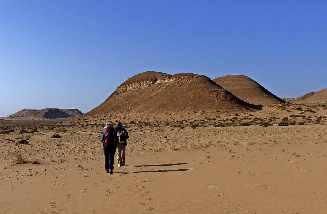 Ein Marsch durch gefühlte Unendlichkei...ieser Wandertour durch die Westsahara.    Foto: Privat