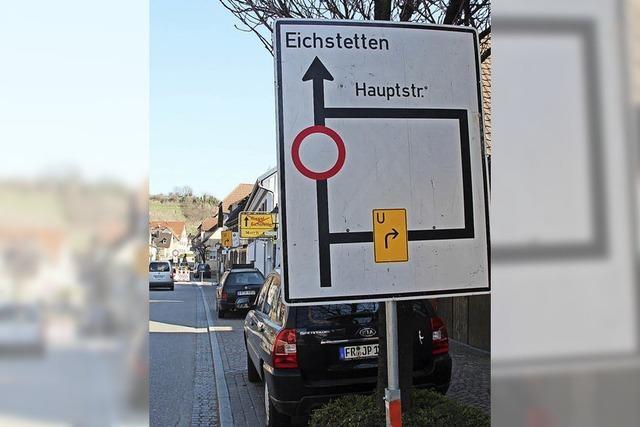 Straßensperrung in Eichstetten