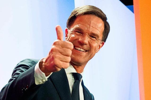 EU atmet auf: Ruttes Volkspartei gewinnt Parlamentswahl