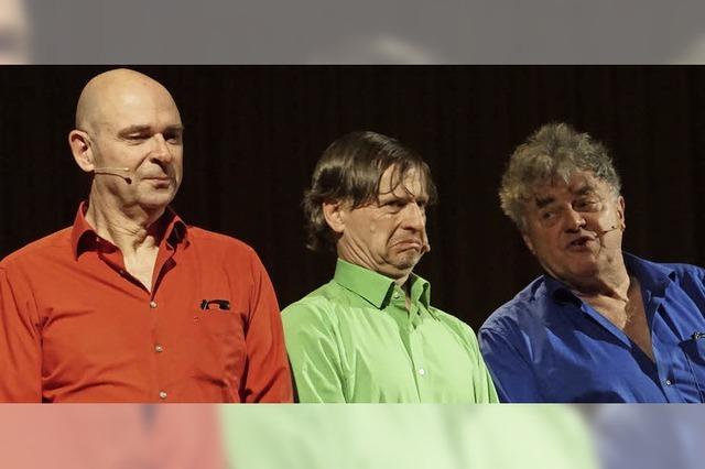 Drei Künstler interpretieren den großen Komiker und Kalauerkönig